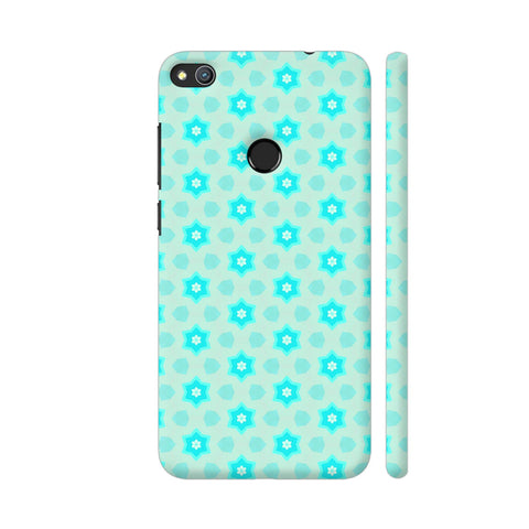 Blue Floral Pattern 3 Honor 8 Lite Cover | Artist: Malls
