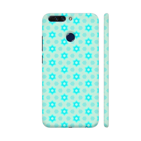 Blue Floral Pattern 3 Honor 8 Pro Cover | Artist: Malls
