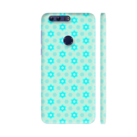 Blue Floral Pattern 3 Honor 8 Cover | Artist: Malls