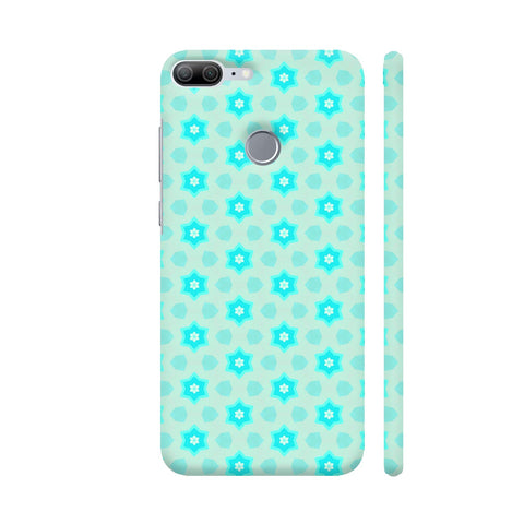 Blue Floral Pattern 3 Honor 9 Lite Cover | Artist: Malls