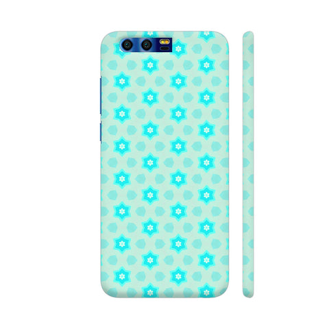 Blue Floral Pattern 3 Honor 9 Cover | Artist: Malls