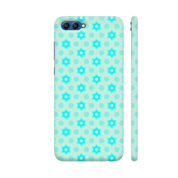 Blue Floral Pattern 3 Honor View 10 Cover | Artist: Malls