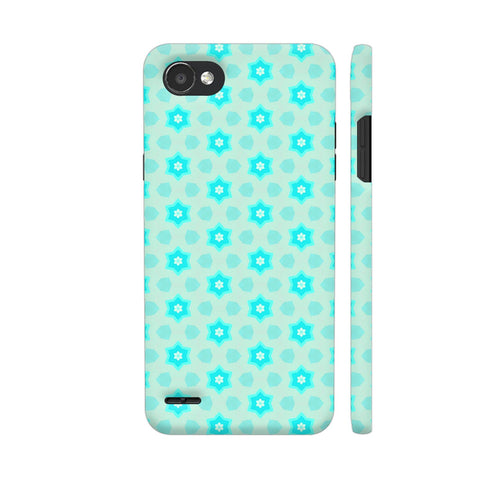 Blue Floral Pattern 3 LG Q6 Cover | Artist: Malls