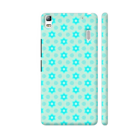 Blue Floral Pattern 3 Lenovo A7000 Cover | Artist: Malls