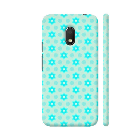 Blue Floral Pattern 3 Moto G4 Play Cover | Artist: Malls