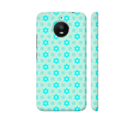 Blue Floral Pattern 3 Moto E4 Plus Cover | Artist: Malls