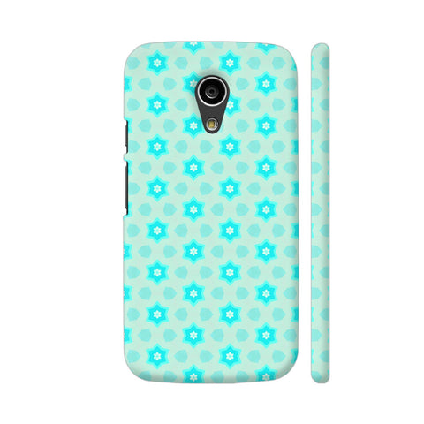 Blue Floral Pattern 3 Moto G2 Cover | Artist: Malls