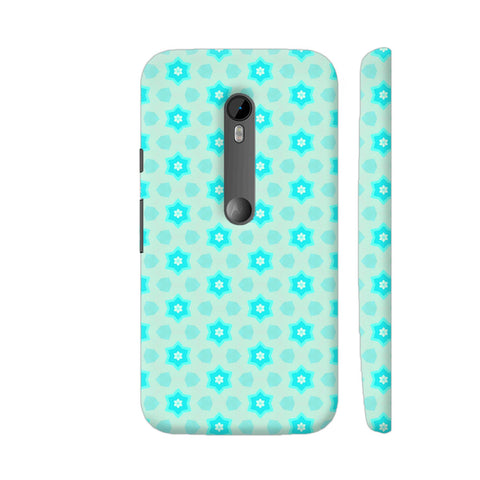 Blue Floral Pattern 3 Moto G Turbo Cover | Artist: Malls