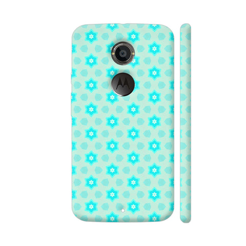 Blue Floral Pattern 3 Moto X2 Cover | Artist: Malls