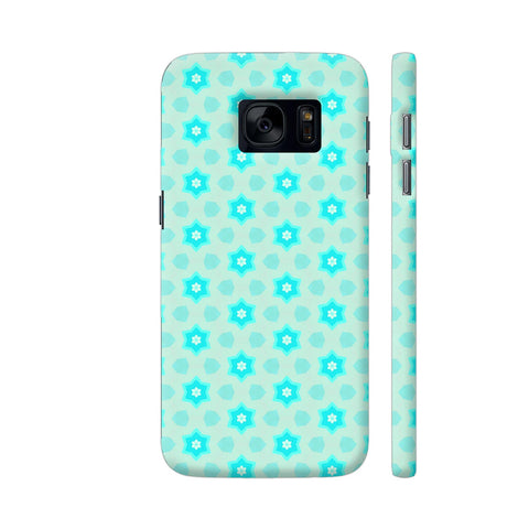Blue Floral Pattern 3 Samsung S7 Cover | Artist: Malls