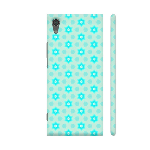 Blue Floral Pattern 3 Sony Xperia XA1 Cover | Artist: Malls