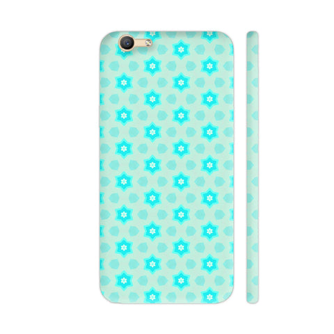 Blue Floral Pattern 3 Vivo Y55s Cover | Artist: Malls