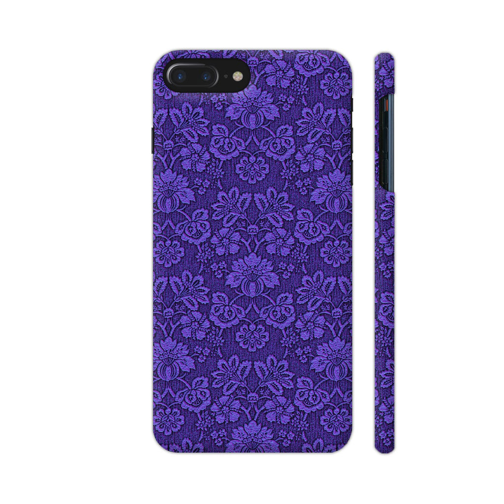 Colorpur Iphone 7 Plus Cover Blue Flower Wallpaper Style Design
