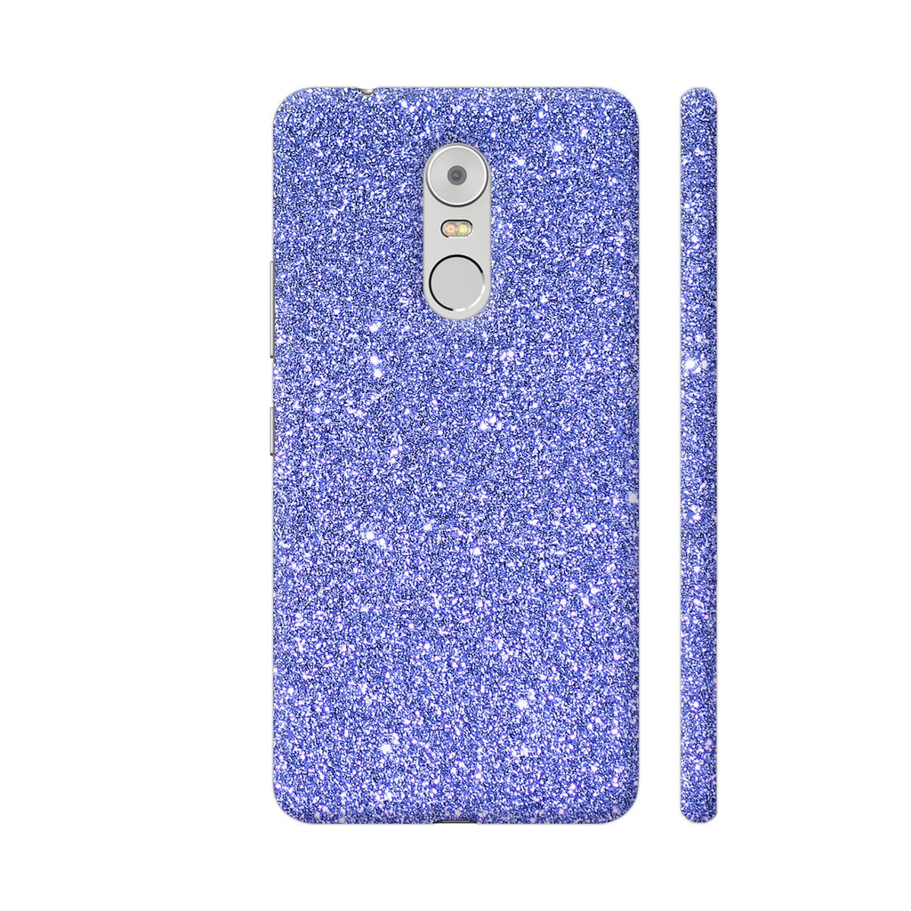 buy popular f31d1 12aad Blue Glitter Sparkley Phone Case Back Cover For Lenovo K6 Note Mobile |  Artist: WonderfulDreamPicture