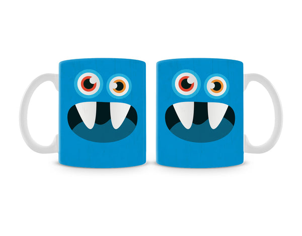 Blue Monster Mug (Set of 2)