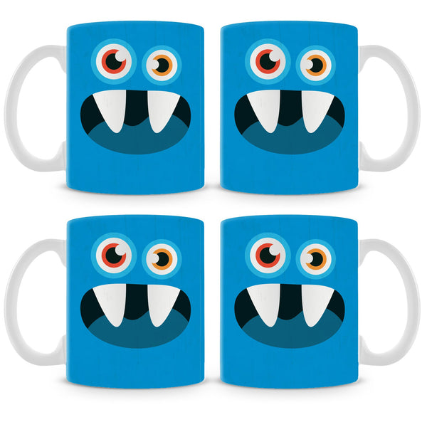 Blue Monster Mug (Set of 4)