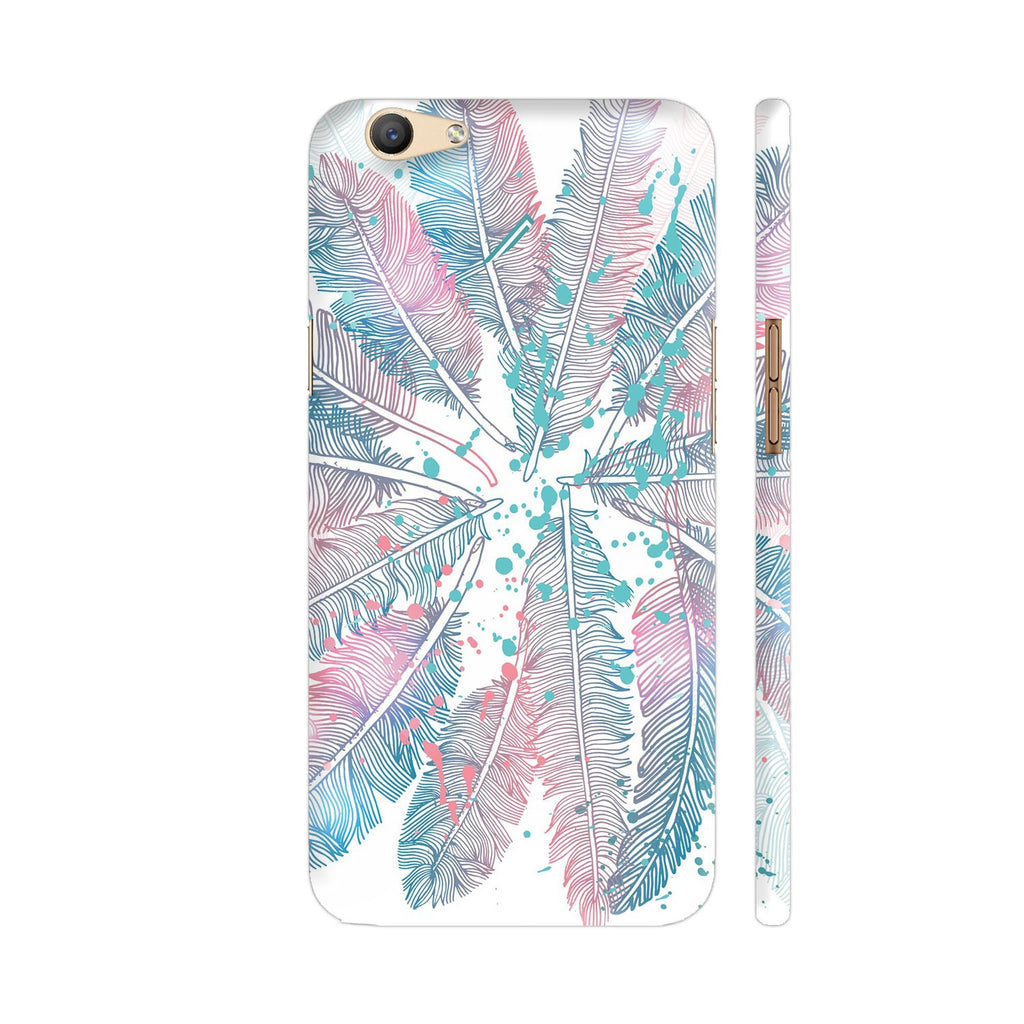 reputable site f8aa7 a9551 Blue Pink Feathers Oppo F1s Cover | Artist: Astha