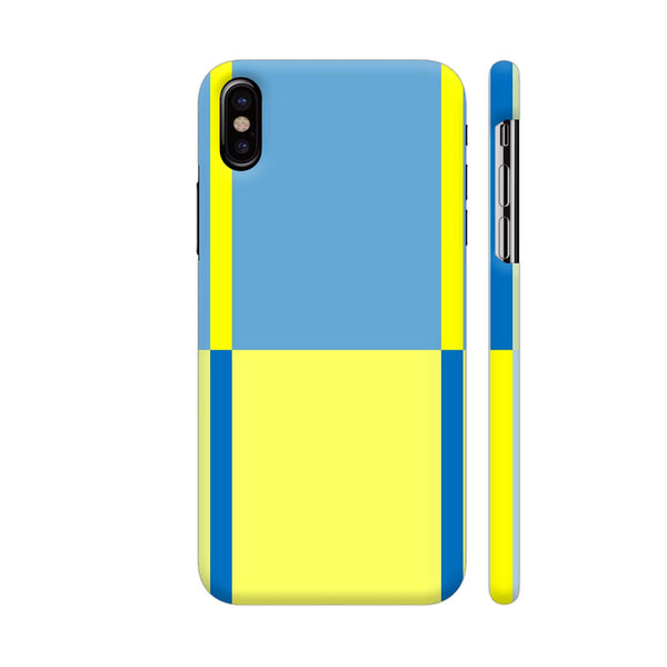 Blue Yellow Lines Pattern iPhone X Cover | Artist: Malls