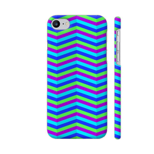Blue Zig Zag Pattern iPhone 7 Cover | Artist: Malls