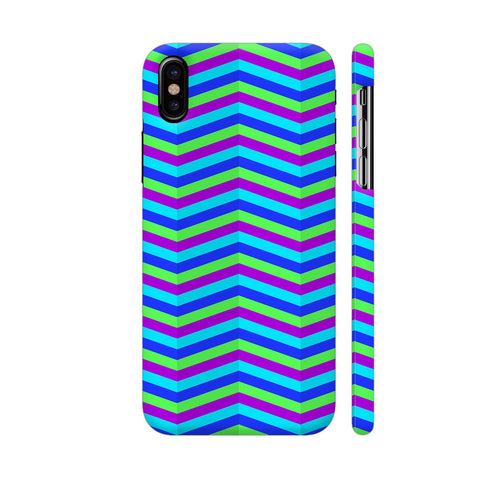 Blue Zig Zag Pattern iPhone X Cover | Artist: Malls