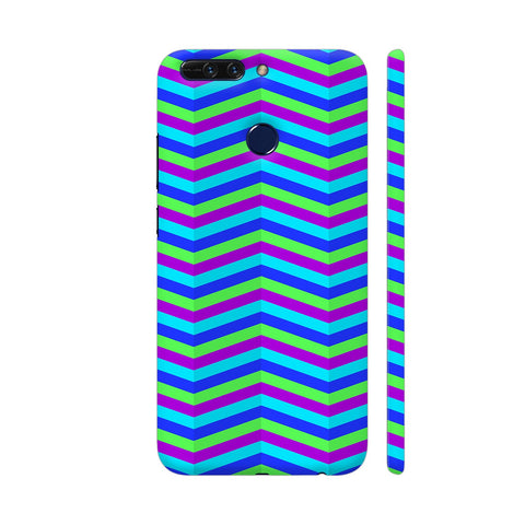 Blue Zig Zag Pattern Honor 8 Pro Cover | Artist: Malls
