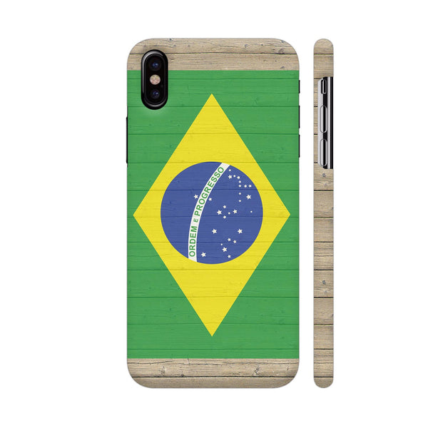 Brazil Flag iPhone X Cover | Artist: Kiran Maurya