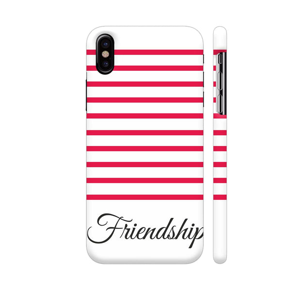 Bright Pink Strips Friendship iPhone X Cover | Artist: Mita