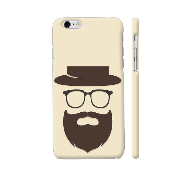 Brown Beard Man On Beige iPhone 6 / 6s Cover | Artist: Astha