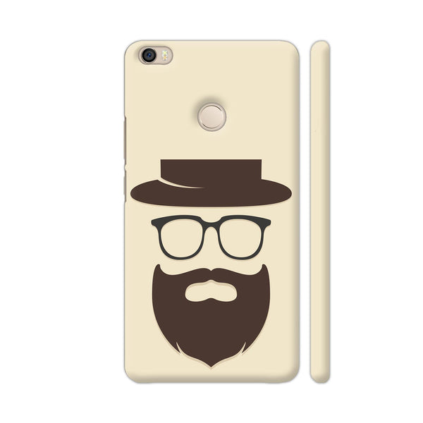 Brown Beard Man On Beige Xiaomi Mi Max Cover | Artist: Astha