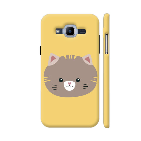 Brown Cat With Yellow Stripes Samsung Galaxy J2 Pro Cover | Artist: Torben