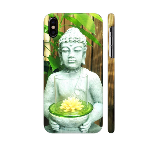 Buddha Zen With Lotus Flower iPhone X Cover | Artist: BluedarkArt