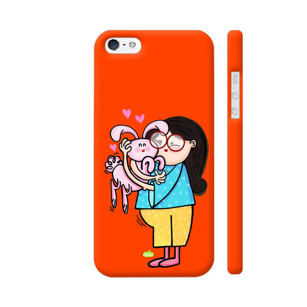 Bunny Love On Red iPhone 5 / 5s Cover | Artist: Woodle Doodle