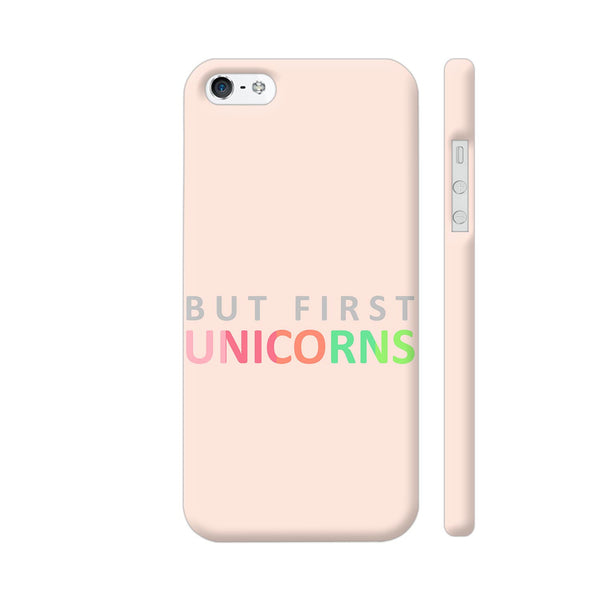 But First Unicorns iPhone SE Cover | Artist: Dolly P