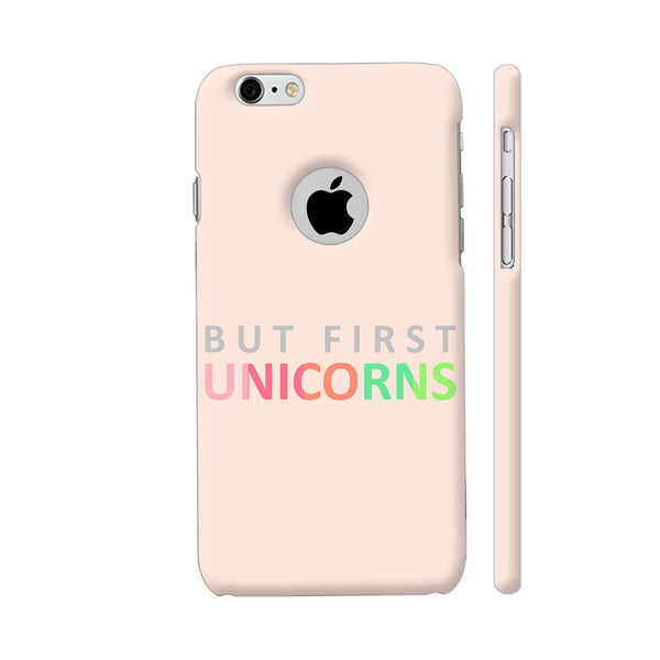 But First Unicorns iPhone 6 / 6s Logo Cut Cover | Artist: Dolly P