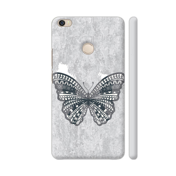 Butterfly On Gray Background Xiaomi Mi Max Cover | Artist: Neeja Shah