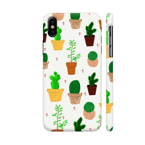 Cactus Be Positive iPhone X Cover | Artist: Avani