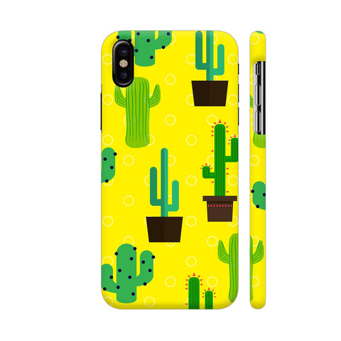Cactus Pattern iPhone X Cover | Artist: Malls