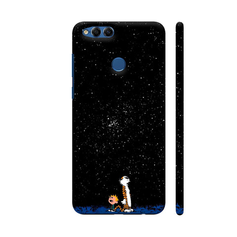 Calvin And Hobbes Huawei Honor 7X Cover | Artist: ianurag