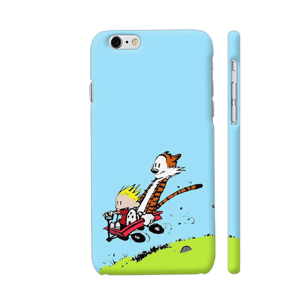 Calvin And Hobbes Sliding From Mountain iPhone 6 / 6s Cover | Artist: Kiran Maurya
