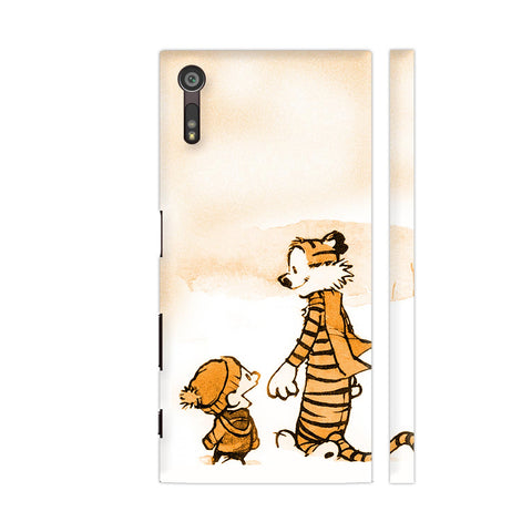 Calvin And Hobbes Talking Sony Xperia XZ / XZs Cover | Artist: Kiran Maurya