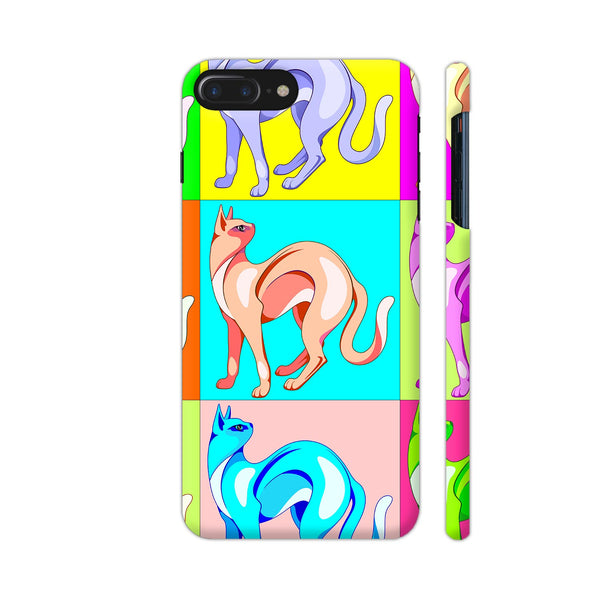 Cat Pop Art Rainbow Colors iPhone 8 Plus Cover | Artist: BluedarkArt