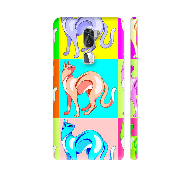 Cat Pop Art Rainbow Colors Coolpad Cool 1 / Cool1 Dual Cover | Artist: BluedarkArt
