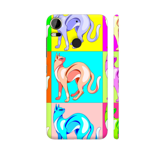 Cat Pop Art Rainbow Colors HTC Desire 10 Pro Cover | Artist: BluedarkArt