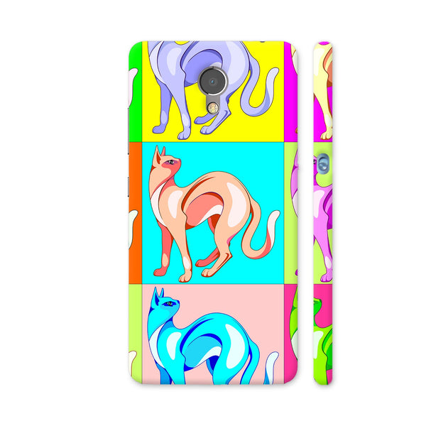 Cat Pop Art Rainbow Colors Lenovo P2 Cover | Artist: BluedarkArt