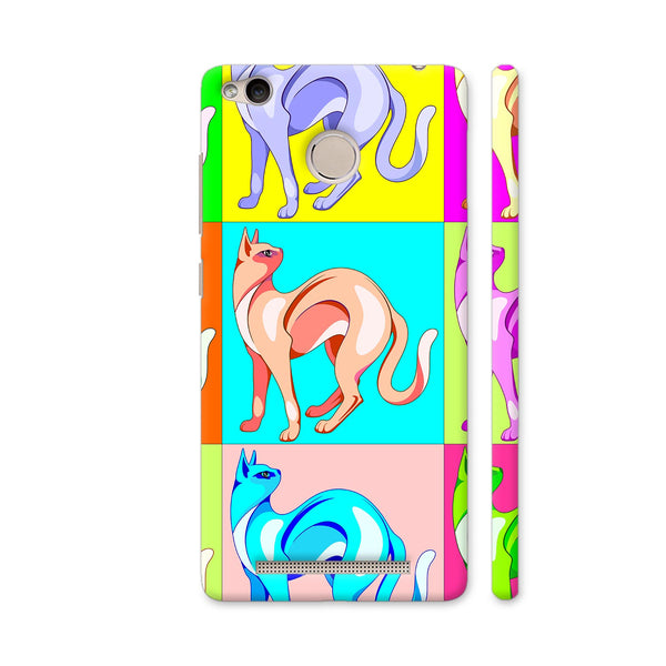Cat Pop Art Rainbow Colors Redmi 3S Prime Cover | Artist: BluedarkArt