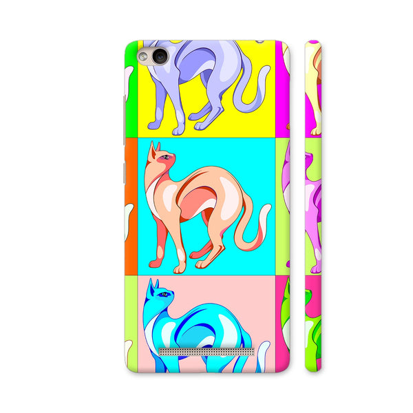 Cat Pop Art Rainbow Colors Redmi 4A Cover | Artist: BluedarkArt