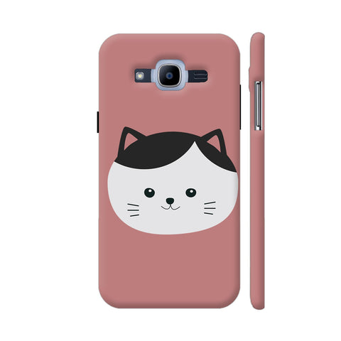 Cat With White Fur And Black Hair Samsung Galaxy J2 Pro Cover | Artist: Torben