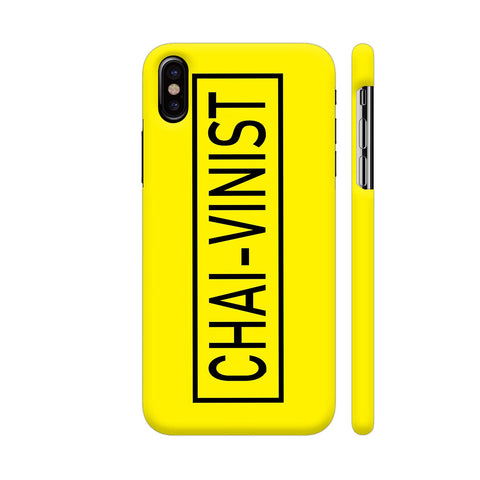 Chai Vinist On Yellow iPhone X Cover | Artist: Malls