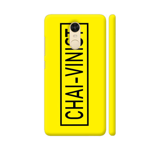 Chai Vinist On Yellow Redmi Note 4 Cover | Artist: Malls
