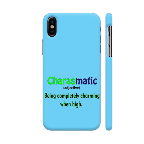 Charasmatic On Blue iPhone X Cover | Artist: Malls